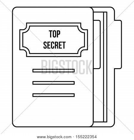 Notepad icon. Outline illustration of notepad vector icon for web