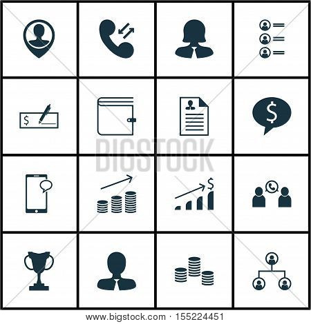 Set Of Hr Icons On Manager, Business Woman And Job Applicants Topics. Editable Vector Illustration.