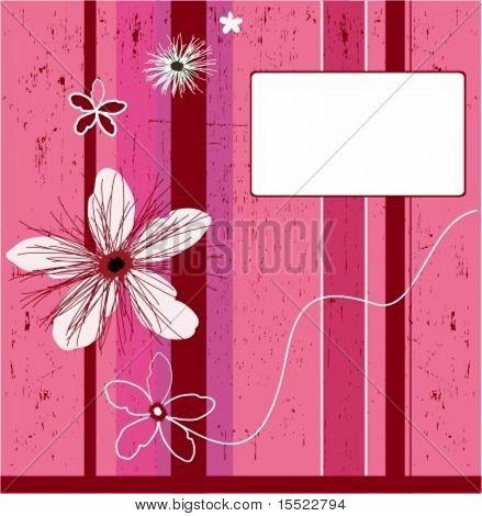 Grunge pink flower background. element for design, vector illustration