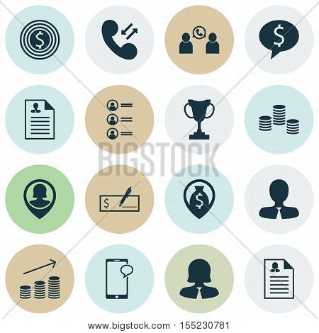 Set Of Human Resources Icons On Messaging, Female Application And Job Applicants Topics. Editable Ve