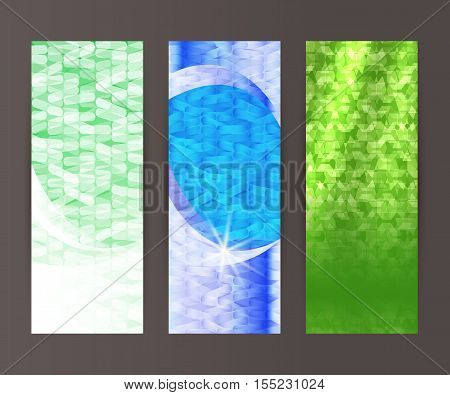 Vertical Banner Set Design Element Background Glow Abstract Shape45