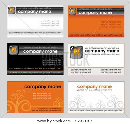 Vector set of business card designs 3.