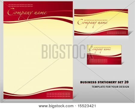 Vector business stationery set 19