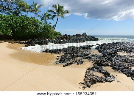 Paako beach, a.k.a. secret beach, on the island of maui, Hawaii