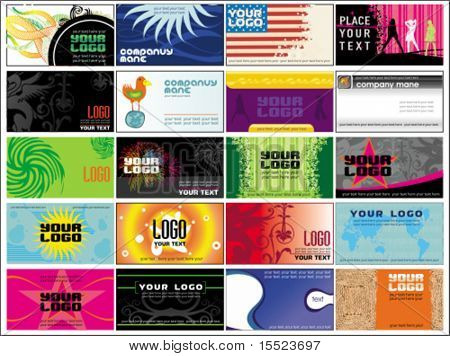 Collection  business cards templates 10.  To see similar, please VISIT MY GALLERY.