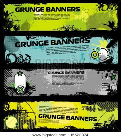 Grunge stylish bunners 3. To see similar, please VISIT MY GALLERY.