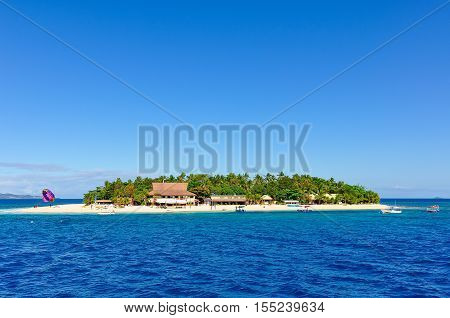 Passing By Beachcomber Island In Fiji
