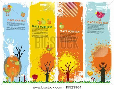 Autumn vertical banners. To see similar, please VISIT MY GALLERY.