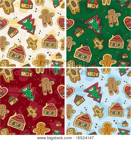 Christmas Seamless Gingerbread Pattern. To see similar, please VISIT MY GALLERY.