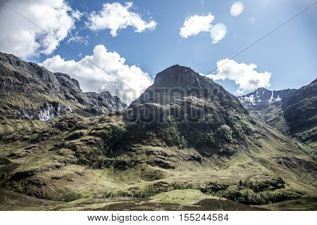 Glen Coe Highlands scotland in nature uphill for panorama view 2