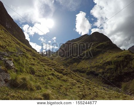 Glen Coe Highlands scotland in nature uphill for panorama view 3