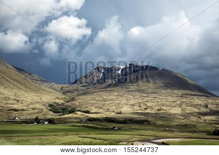 Glen Coe Highlands scotland in nature uphill for panorama view 4