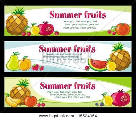 Fruit banners.  To see similar, please VISIT MY PORTFOLIO