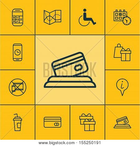 Set Of Transportation Icons On Appointment, Road Map And Present Topics. Editable Vector Illustratio