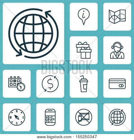 Set Of Transportation Icons On Road Map, Locate And Present Topics. Editable Vector Illustration. In