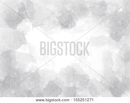 Abstract grey watercolor background. Abstract background painting with grey colors.