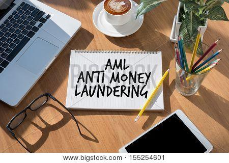 Business Acronym AML Anti Money Laundering  analysis, business, businessman, belief inspiration communication
