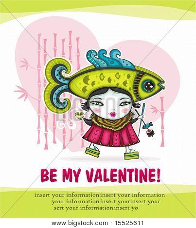 Be my valentine card series