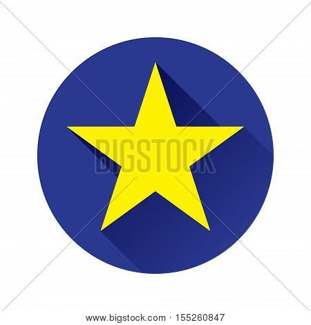 Flat star icon with shadow on dark blue background Perfect five-pointed star Star icon vector Star icon eps Star icon picture Star icon flat Star icon app Star icon web Star icon Star icon object