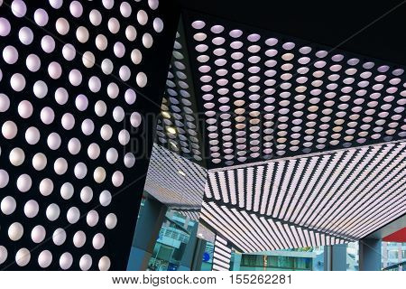 Low angle view on a ceiling construction