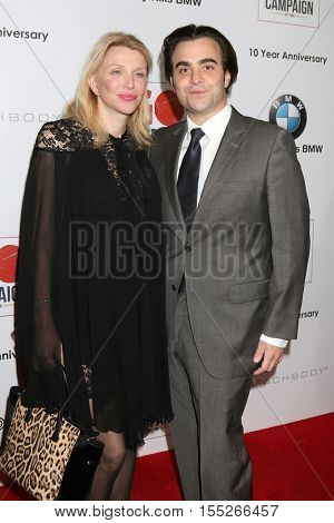 LOS ANGELES - NOV 5:  Courtney Love, Nick Jarecki at the 10th Annual GO Campaign Gala at the Manuela at Hauser Wirth & Schimmel on November 5, 2016 in Los Angeles, CA
