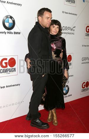 LOS ANGELES - NOV 5:  Ewan McGregor, Eve Mavrakis at the 10th Annual GO Campaign Gala at the Manuela at Hauser Wirth & Schimmel on November 5, 2016 in Los Angeles, CA