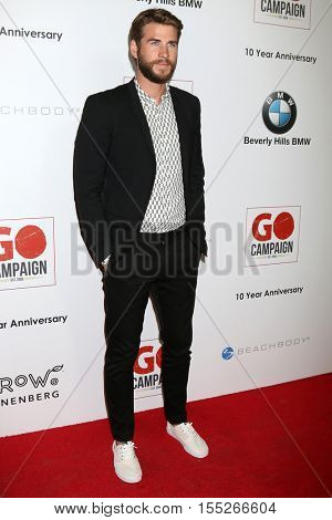 LOS ANGELES - NOV 5:  Liam Hemsworth at the 10th Annual GO Campaign Gala at the Manuela at Hauser Wirth & Schimmel on November 5, 2016 in Los Angeles, CA