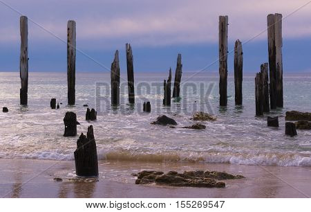 Jetty Ruins - Port Willunga, South Australia Nearing Sunset