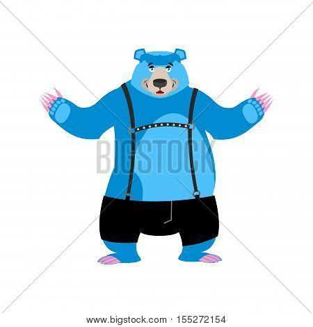 Gay blue bear animal symbol of sexual community.