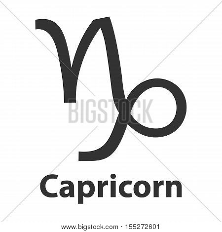 Capricorn, sea goat zodiac sign. Vector Illustration, icon