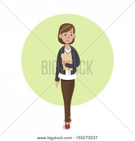 Illustration of casual businesswoman character