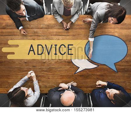 Discussion Communication Advice Negotiation Concept