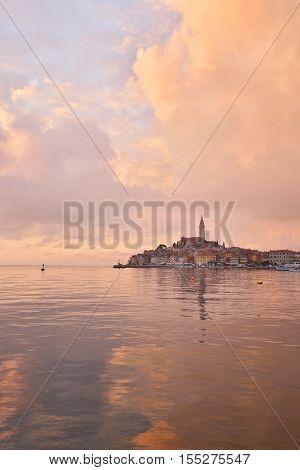 A Beautiful Sunset In Rovinj, Croatia