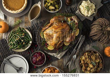 Homemade Thanksgiving Turkey Dinner