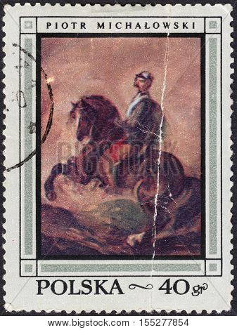 MOSCOW RUSSIA - CIRCA OCTOBER 2016: a post stamp printed in POLAND shows a painting