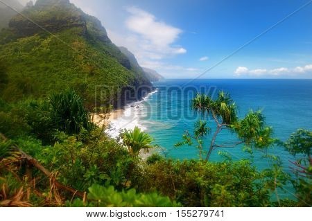 Stunning View From Kalalau Trail In Kauai