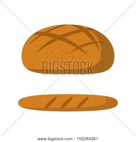 Vector Cartoon Isolated Bread Icon
