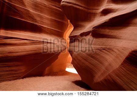 Glowing Colors Of Upper Antelope Canyon, The Famous Slot Canyon In Navajo Reservation Near Page, Ari