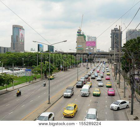 Traffic In Bangkok, Thailand