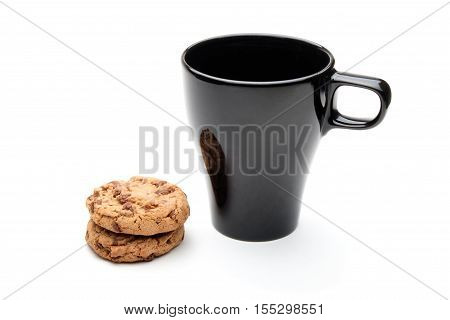 Black Cup And Cookies