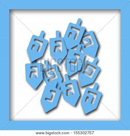 Happy Hanukkah greeting card design. Vector illustration for jewish holiday Hanukkah.