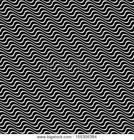 Seamless angular wavy stripe pattern background design
