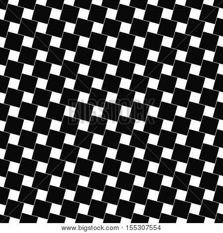 Seamless black and white angular square pattern design background