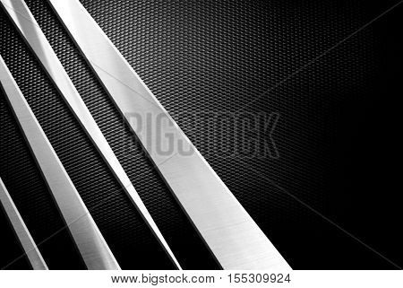 3d metal design with mesh background