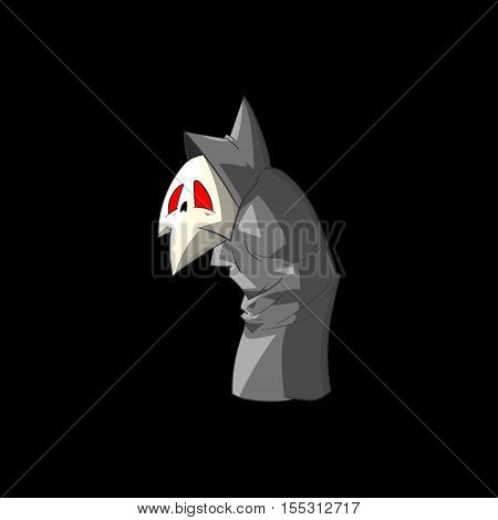Colorful vector illustration of a cute cartoon grim reaper