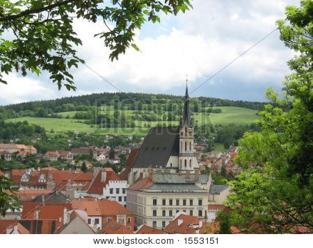 City View Showing Church In Cesky Krumolov Czech Republic