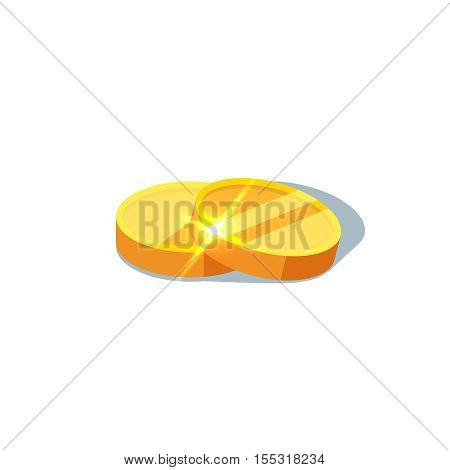 Gold coins on a white background. Vector illustration of gold coins icon in flat style isolated. Concept of money and finance