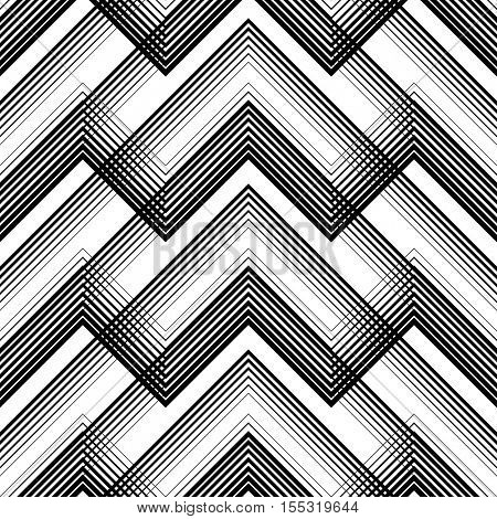 Seamless Tartan Pattern. Vector Black and White Woven Background. British Plaid Design. Abstract Diagonal Thin Line Art Pattern. Wrapping Paper Checks Texture