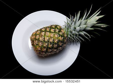 Pineapple On Plate