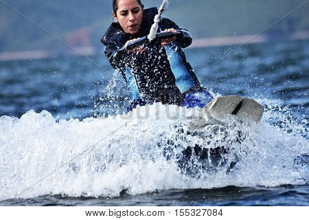 Wakeboarding as extreme and fun water sport